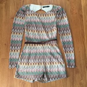 Missoni inspired romper